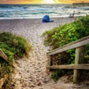 Sandy Walk Down To The Beach Art Print