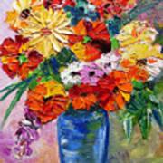 Sandy's Flowers Art Print