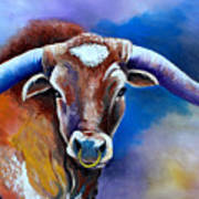 Sandy's Longhorn Bull Art Print