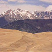 Sangre De Cristo Mountains And The Great Sand Dunes Art Print
