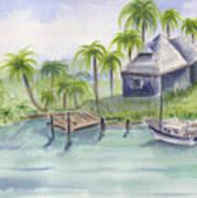 Sanibel Castaways View Over Bay Art Print