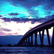 Sanibel Causeway Bridge Art Print