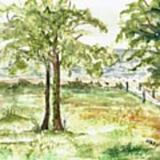 Sanibel Shores Sketch Art Print