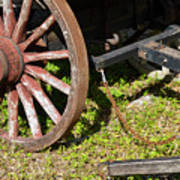 Sanibel Village Wagon Wheels Art Print