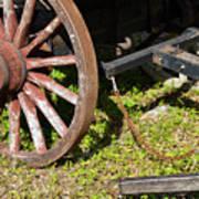 Sanibel Village Wagon Wheels Art Print
