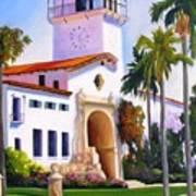 Santa Barbara Court House Art Print