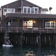 Santa Barbara Pier At Dusk Art Print