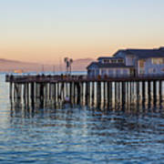 Santa Barbara Wharf At Sunset Art Print