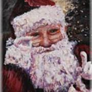 Santa Chat Art Print