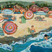 Santa Cruz Beach Boardwalk Art Print