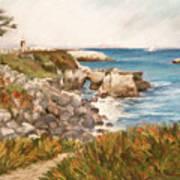 Santa Cruz By The Bay Print by Ann Caudle