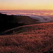 Santa Cruz Mountains At Sunset Ca Usa Art Print