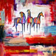 Santa Fe Dreams Horses Art Print