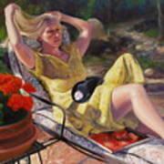 Santa Fe Garden 4 Art Print