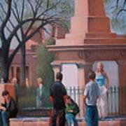 Santa Fe Plaza Art Print