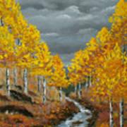 Santa Fe River Aspens Art Print