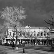 Santa Fe Town Square Art Print