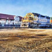 Santa Fe Train In Ardmore Art Print