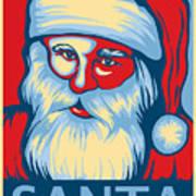 Santa Hope Art Print