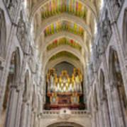 Santa Iglesia Catedral De Santa Maria La Real De La Almudena Art Print