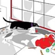 Santa Left His Toys Art Print