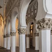 Santa Maria La Blanca Synagogue - Toledo Spain Art Print