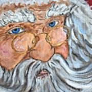 Santa - Merry Christmas Art Art Print