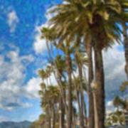 Santa Monica Ca Palisades Park Bluffs  Art Print