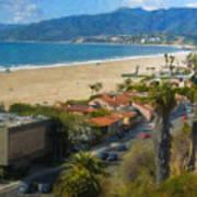 Santa Monica Ca Steps Palisades Park Bluffs  Art Print