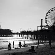 Santa Monica Pier Print by John Gusky