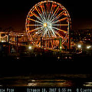 Santa Monica Pier October 18 2007  Art Print