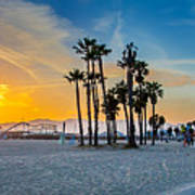 Santa Monica Sunset Art Print