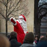 Santa Says Hello Art Print
