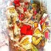 Santa Scene 1 Art Print