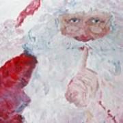 Santa Shhhh Art Print