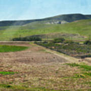 Santa Ynez Mountains Green Hills Ranch Art Print