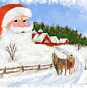 Santas Beard Art Print