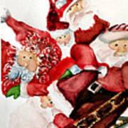 Santas Art Print by Dana Patterson