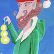 Santa's Ornament Painter Elf Art Print