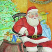 Santas Secret Art Print