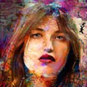 Santia Beauty Face 1062 Art Print