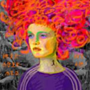 Santia In Adidas Bluse 981 Art Print