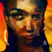 Santia In Orange 726 Art Print