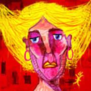 Santia Sour Face 1060 Art Print