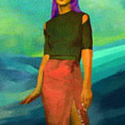 Santia Walking On Water Art Print