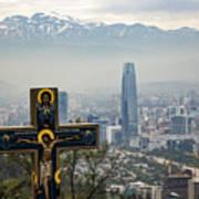 Santiago Chile Panoramic Art Print