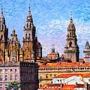 Santiago De Compostela, Cathedral, Spain Art Print