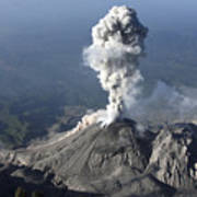 Santiaguito Ash Eruption, Guatemala Print by Martin Rietze
