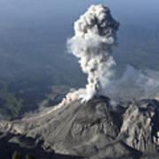 Santiaguito Ash Eruption, Guatemala Art Print by Martin Rietze