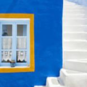 Santorini Blue Art Print
